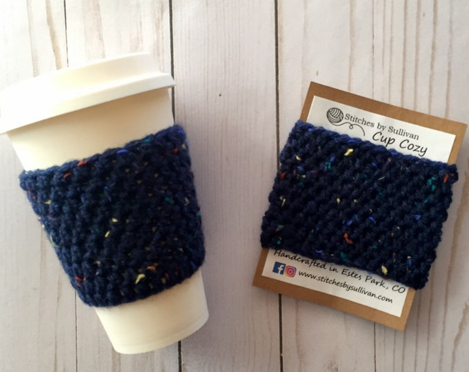 Blue Sprinkles Coffee Cozy