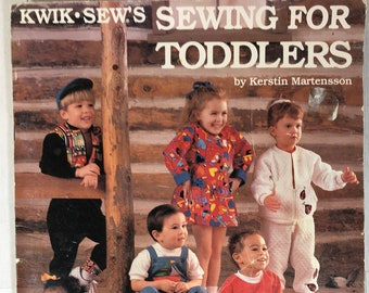 Kwik Sew Pattern Book - Sewing for Toddlers - Easy Sewing for Beginners - Stretch Knits. Great Book you will use SO MUCH! Australia Seller