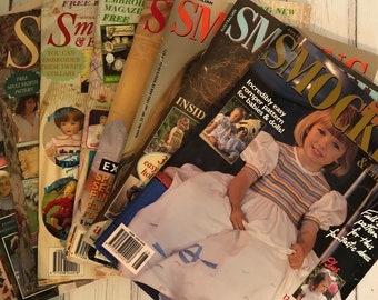 Smocking Issues 20 - 29. You Choose the Issue. Smocking & Embroidery Magazine Australia, Smocking Patterns for Girls. (Australian Seller)