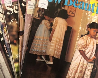 Sew Beautiful Magazine (Early Issues). Smocking Magazine by Martha Pullen. You Choose the Issue. Full Size Sewing Pattern Pullouts