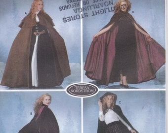 Costume Sewing Pattern Womens Cape Steampunk Outfit for Women Cosplay Medieval Womens Costume Patterns Halloween Costume Simplicity 5794