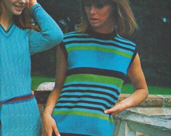 Knitted Dress Knitting Pattern for Women PDF Digital Download Instant Download Digital Pattern Knitting Download 1970s Knitting Patterns