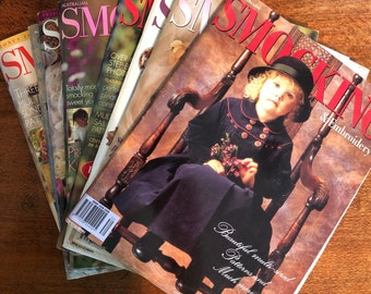 Issues 30 - 39 Smocking & Embroidery Magazine Australia, Choose the Issue. Slow Stitching, Smocking Patterns for Girls. (Australian Seller)