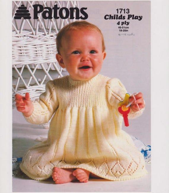 4ba485085f0d Baby Dress Pattern Knitting Pattern PDF Instant Download 6