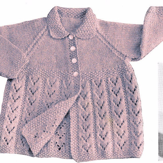 06526fa61 Knitting Patterns Baby Cardigan Instant Download Baby Shower