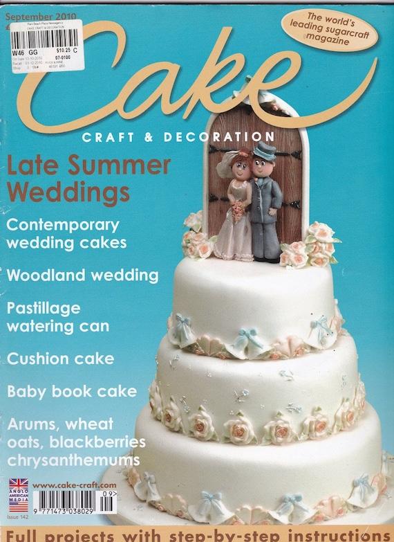 Cake Decorating 2 Magazines Sugarcraft Wedding Cake Etsy