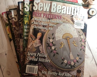 Sew Beautiful Magazine. Smocking Magazine by Martha Pullen. You Choose the Issue. Full Size Sewing Pattern Pullouts (Australia Seller)