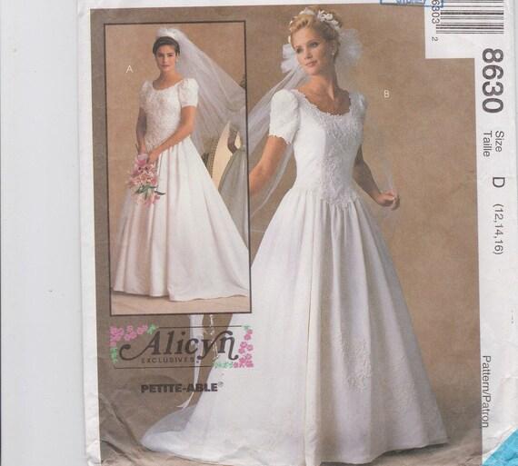Wedding Dress Sewing Pattern Wedding Gown 1980s Retro Wedding | Etsy