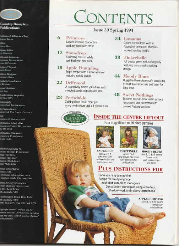 Smocking & Embroidery Magazine Australia Issue 30 Heirloom | Etsy