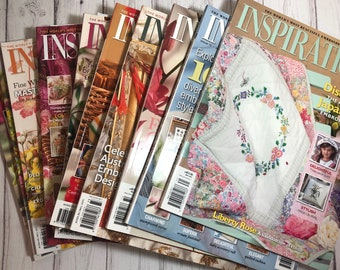 Inspirations Issues 70 - 79. Choose The Issue. Australian Embroidery Magazines from around 2013 (Australia Seller)