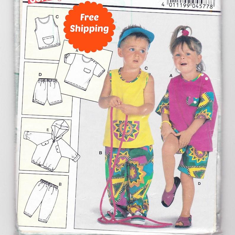 Sewing Patterns for Children Hoodie Sewing Pattern Toddler Boy Toddler Girl  Clothes Summer Kids Pants Burda 4577 Gender Free Clothing