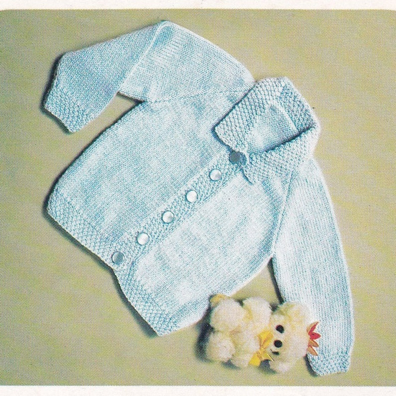 57448d47a Baby Cardigan Knitting Pattern PDF Pattern Instant Download