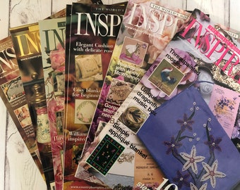 Issues 40 - 49 Inspirations Magazine - You Choose the Issue. Australian Embroidery Magazines from the Early 2000's (Australia Seller)