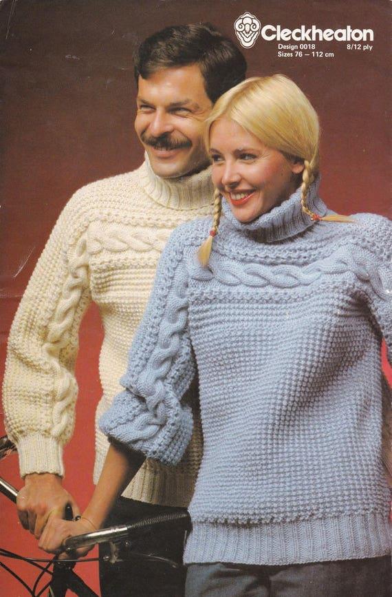 Chunky Knit Sweater Knitting Pattern Sweater Pattern For Women Etsy