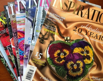 Inspirations Issues 80 - 89. Choose The Issue. Australian Embroidery Magazines from around 2014 / 2015 (Australia Seller)