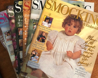 Issues 40 - 49 Smocking & Embroidery Magazine Australia, Choose the Issue. Slow Stitching, Smocking Patterns for Girls. (Australian Seller)