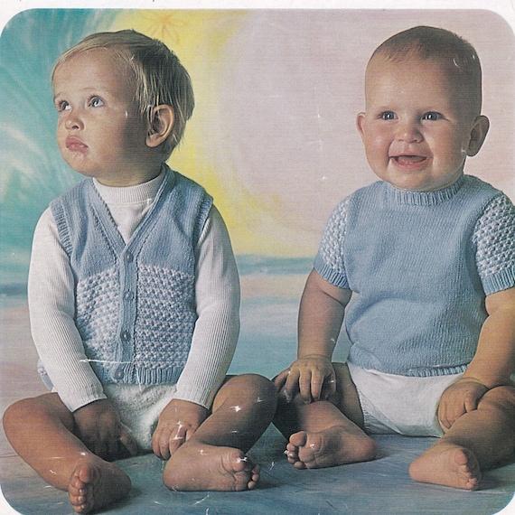 77aeb239995b Baby Sweater Knitting Pattern Baby Vest Knitting Pattern PDF