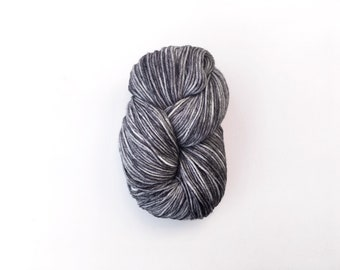 LAS PALMAS tonal grey DK weight yarn -- hand dyed grey yarn, superwash polwarth, light worsted, tonal grey, variegated wool, knitting gifts