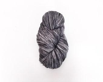 LAS PALMAS tonal grey DK weight yarn -- hand dyed grey yarn, superwash wool nylon blend, light worsted, tonal grey yarn, gifts for knitters