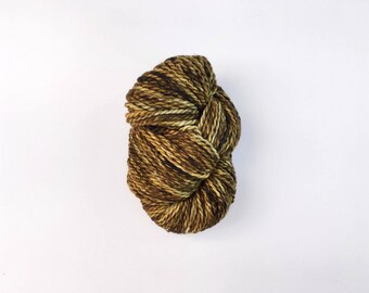 LA ACEITUNA olive green chunky weight yarn -- hand dyed bulky weight yarn, chunky wool, indie dyed, superwash merino, gifts for knitters
