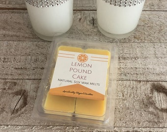 Lemon Pound Cake Soy Wax Melts | Wax Melts | Lemon Scented Wax Melts | Best Soy Wax Melts | Kitchen Wax Melts