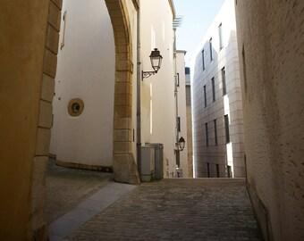 Explore Luxembourg Print/ Europe/ Travel/ Cobblestone/ Street/ Eleventh Planet Art/Travel Photography/Framed Print/Home Decor/ Wall Art