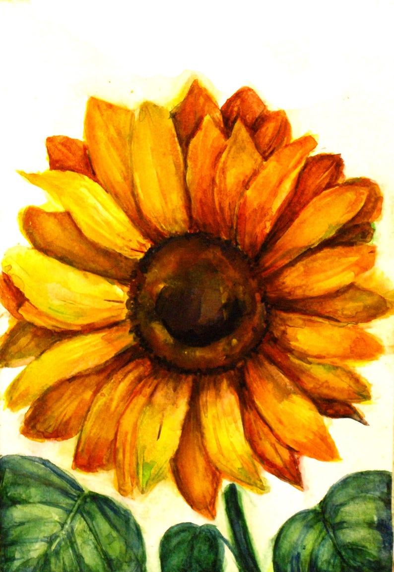Farmhouse Wall Decor Country Kitchen Sunflower Art Sunflower Etsy