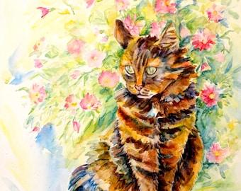 Custom pet portrait Animal portraits Cat lover animal art Cat portrait painting Portrait painting pet Animal portrait watercolor