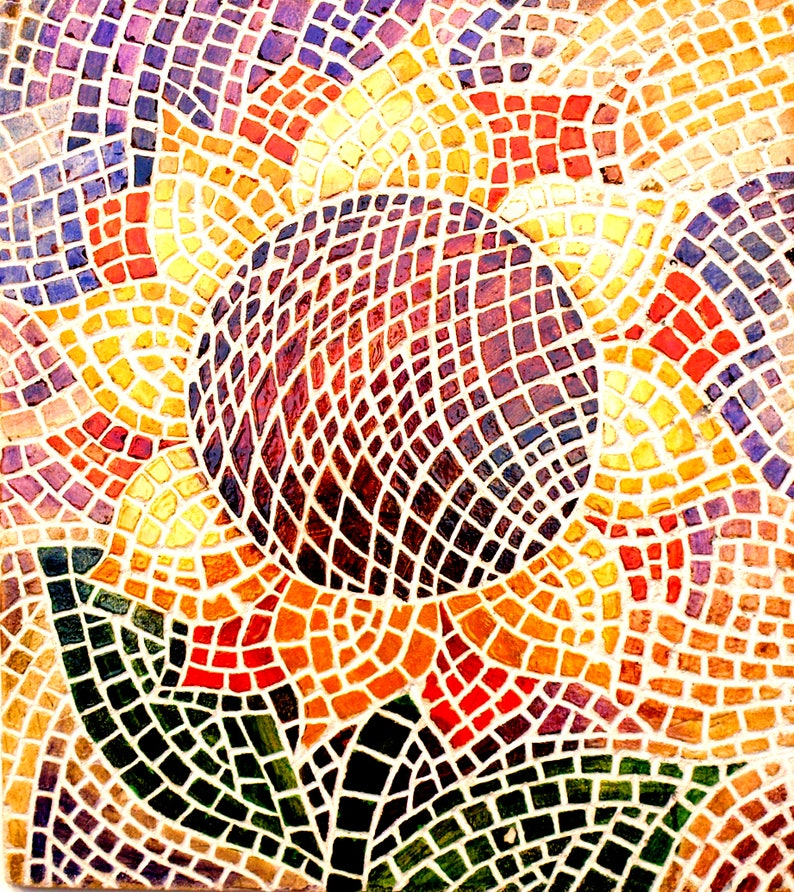 Mosaic Wall Art Mosaic Tiles Kitchen Sunflower Decor Flower Etsy