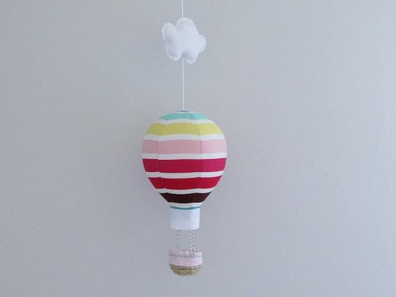 Baby Mobile Ballon Kinderzimmer Dekor Streifen Farbe Ballon   Etsy