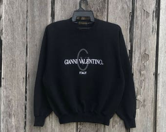 Vintage!!! Gianni Valentino italy spell out sweatshirt jumper