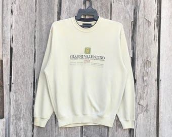 Vintage!!! Rare Gianni Valentino spell out sweatshirt