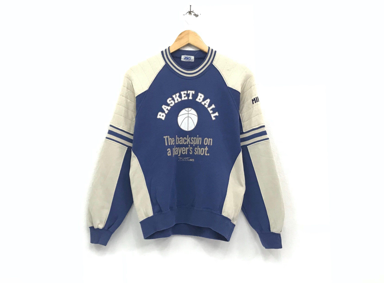 cb172607e10b3 Asics crewneck Sweatshirt jumper big print spell out basketball logo  sportswear / streetwear / small large size