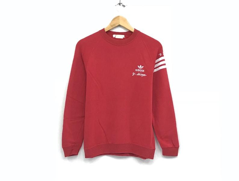 a2ea7519fb6dd Adidas crewneck Sweatshirt jumper embroidery Spells Out small logo  sweatshirt/ pullover / sweater /hip hop sportswear swag/ small large size