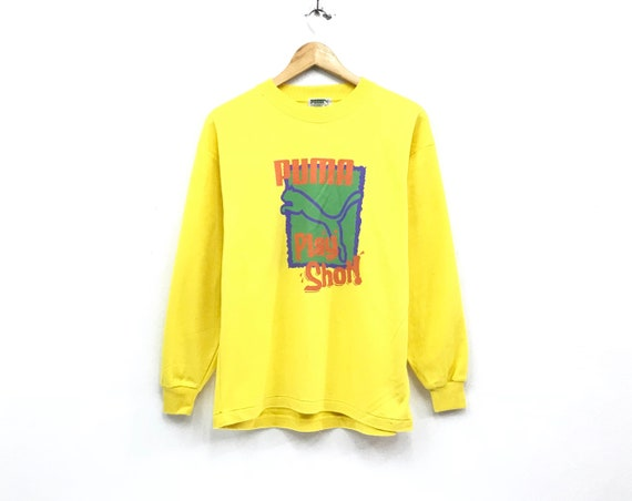 5e783c255aa13 Puma crewneck Sweatshirt jumper big spell out logo sportswear streetwear  hip hop swag sweatshirts / medium size