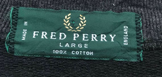 size big fashion uk crewneck spell sportswear out Perry Fred embroidery style sweatshirts logo pullover jumper large fashion RXyaRqwH
