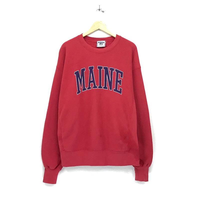 b7e0ef9442fee Lee crewneck sweatshirt big print spell out maine streetwear hip hop style  outerwear jumper