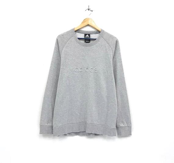 a1e52b3661827 Adidas crewneck Sweatshirt jumper embroidery big logo pullover / streetwear  /hip hop / sportswear / urban fashion