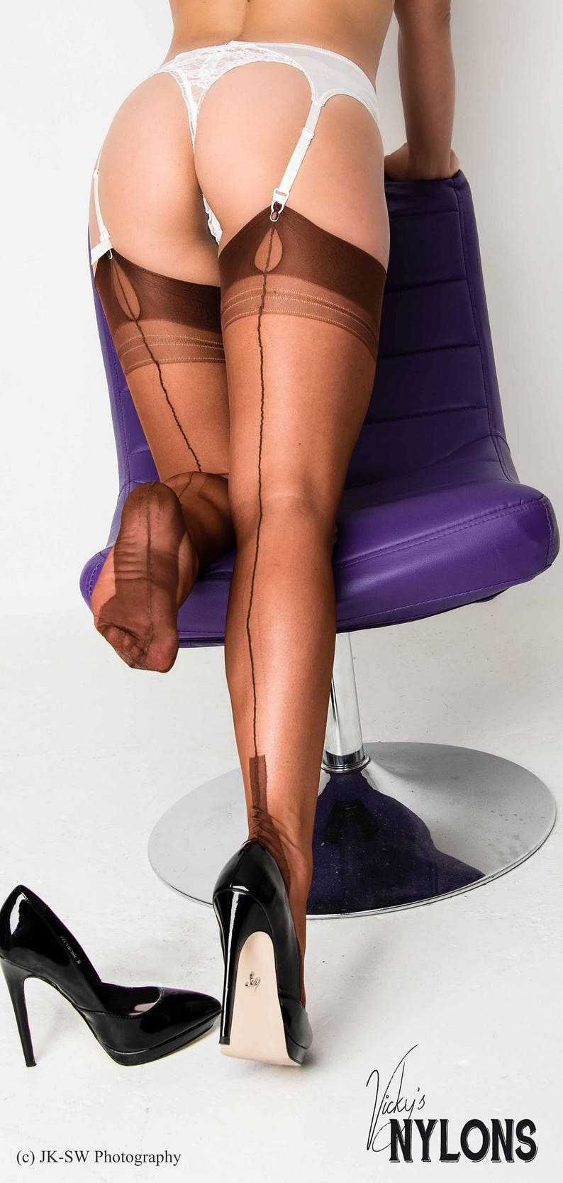 b74eef398fa Garter Seamed Nylon Stockings Seamed Nylons English real