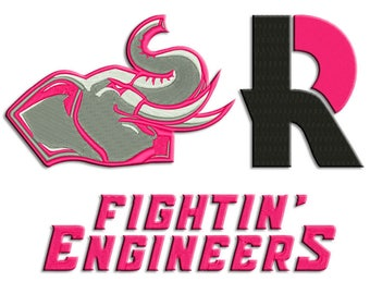 Rose-Hulman embroidery design - Machine embroidery design