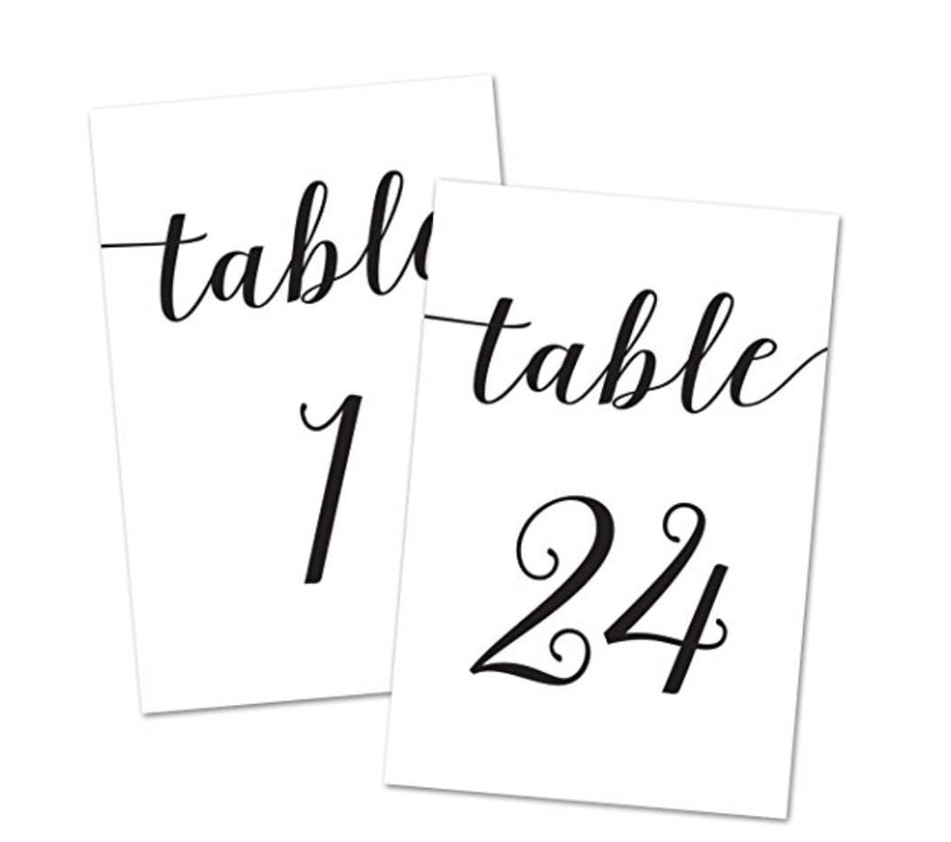 4x6 table number card s 1 24 wedding table numbers table numbers