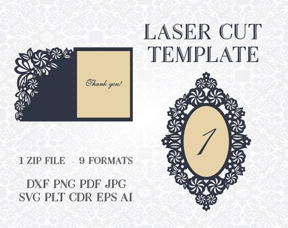 Wedding Invitation 2 Openwork Designs Card Templates Svg Files Lace Folds Svg Dxf Ai Eps Png Pdf Lasercut Stencil Silhouette Cameo