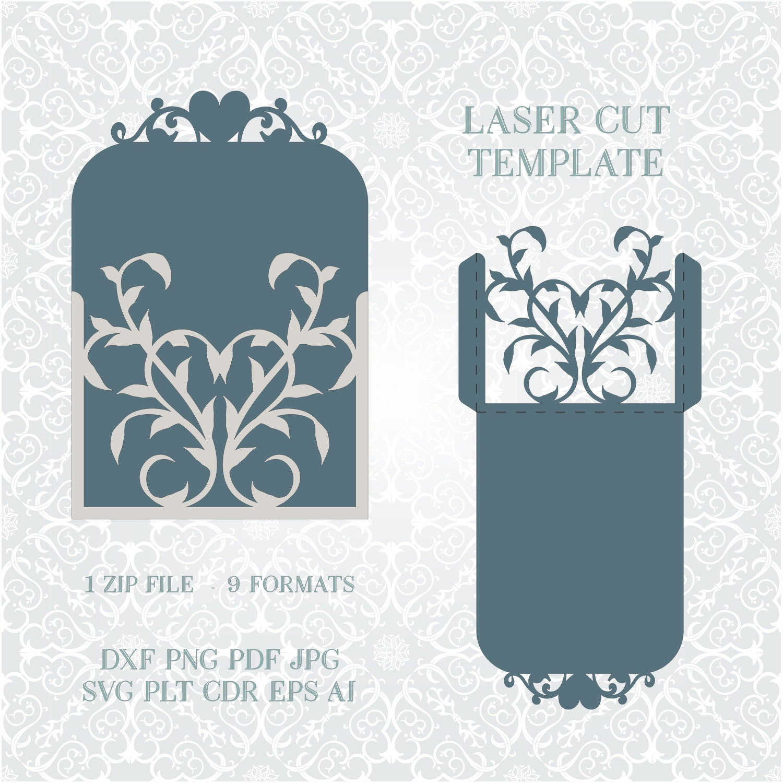 Wedding Invitation Lace Card Template, Quinceanera Invitation, die ...