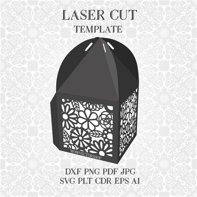 Wedding Cage Favour Box Template Wedding decoration LED tea | Etsy