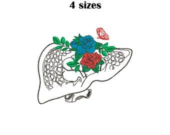 6 sizes You/'re Fine Shut Up Liver Machine Embroidery Design