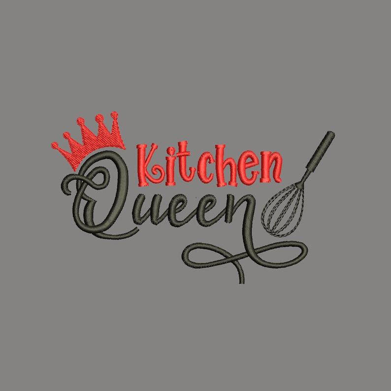 Kitchen embroidery design Kitchen queen embroidery funny quotes embroidery Kitchen lovely quotes Kitchen embroidery designs pes 4 sizes