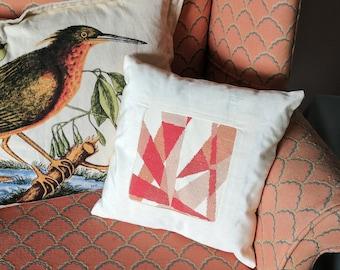 Pink Triangle Geometric Cross Stitch Pattern