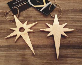 Compass star ornaments