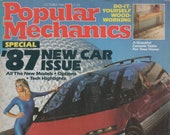 Popular Mechanics Magazine October 1986 1987 Issue Cars, Water Rocket, Building Bridges and Dams