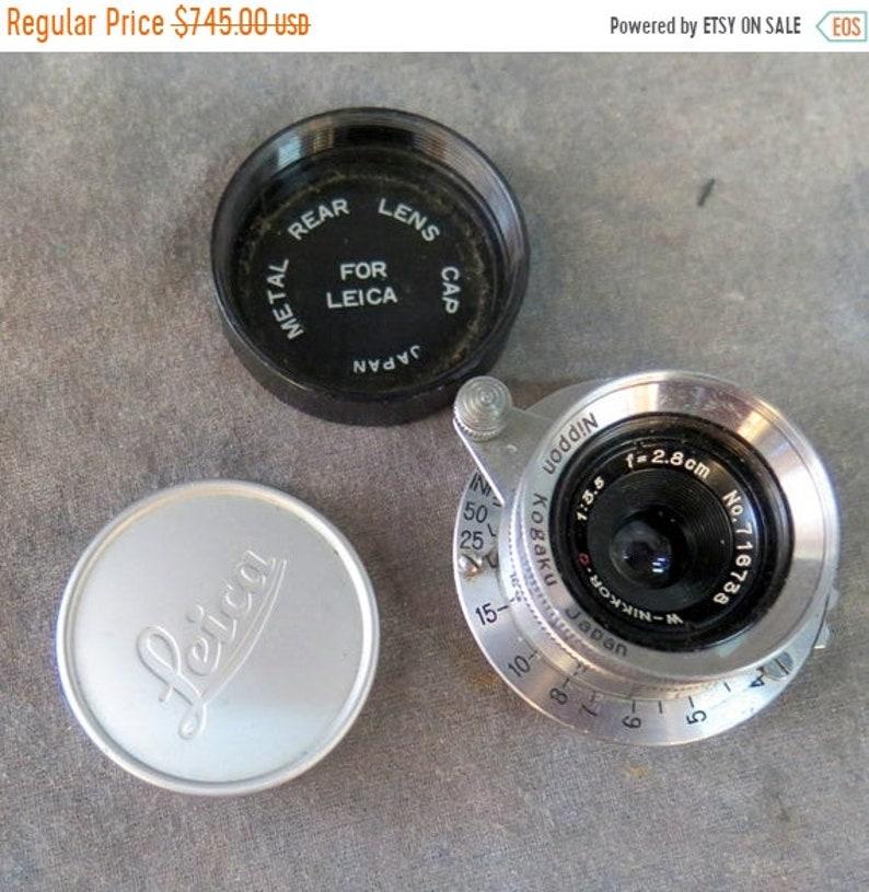 Nikon 2.8 cm f 3.5 W-Nikkor Lens. Beautiful Leica mount image 0